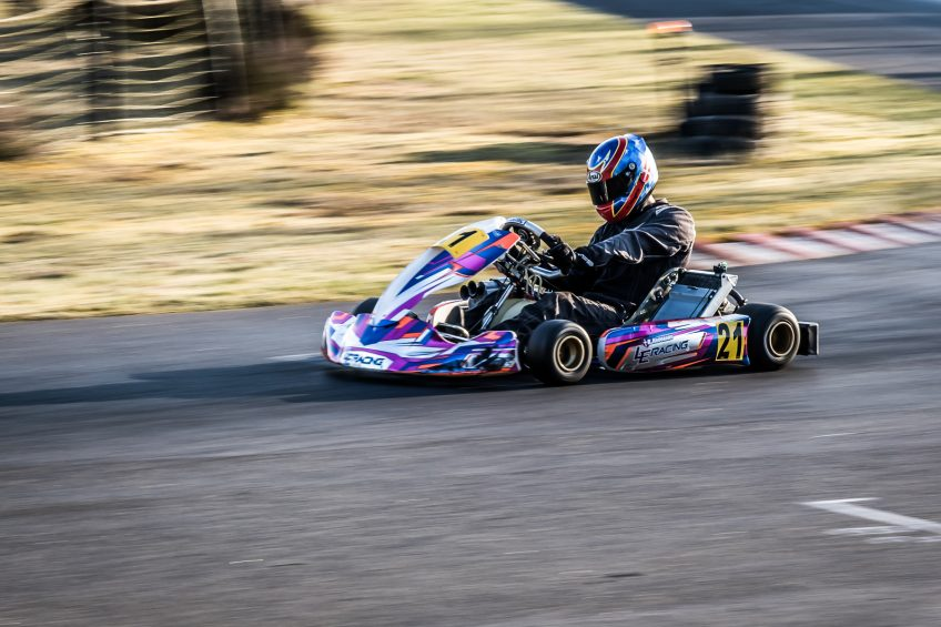 Gokart-action i Grindsted