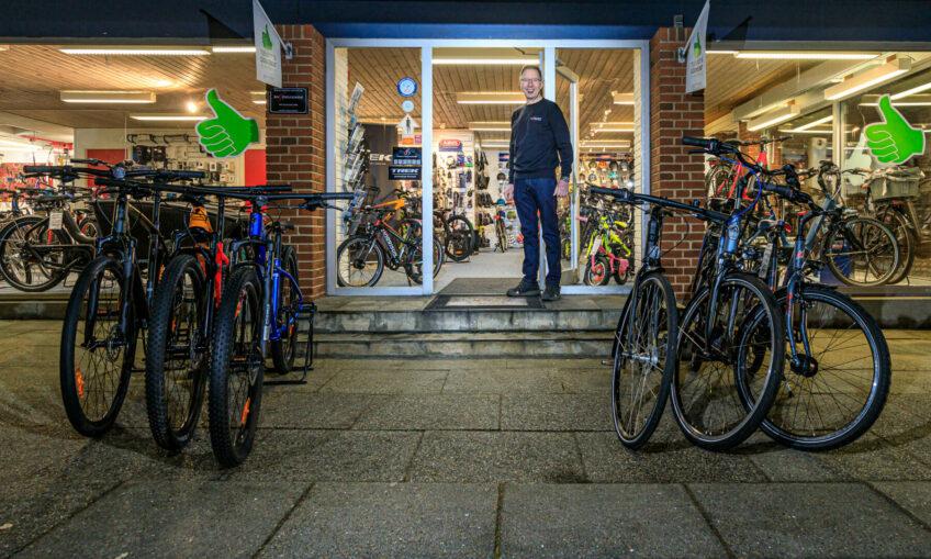 Sponsorfotos hos Kibæk Cykler