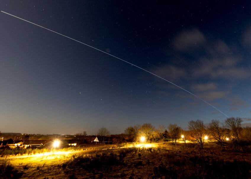 Introduktion til foto af nattehimlen – En rumstation kom forbi